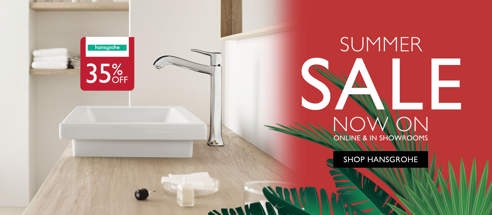 Save 35% off Hansgrohe
