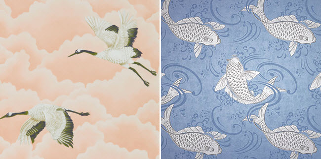 Wallpaper Designs Comprising Natural Elements Such As A Cloudy Sky Or A  Wavy Sea Can Bring A Soothing Quality To Your Decor. Muted Tones And  Undulating ...