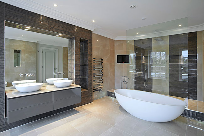 The Coniston Freestanding Bath Paired With Duravit Foster Washbowls