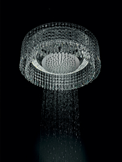 Bisazza chandelier luxury shower