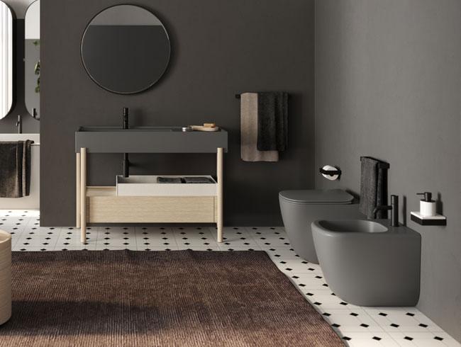Zwart toilet - CP Hart luxe badkamers