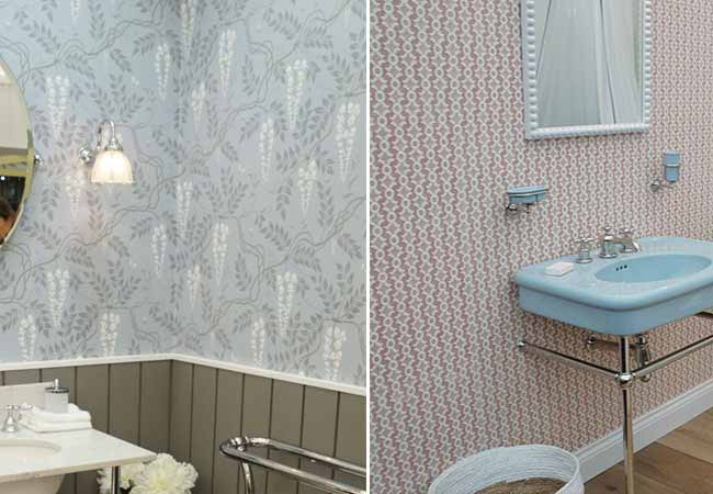 Decorative bathroom wallpaper at decorex