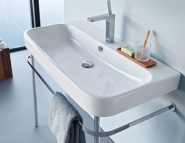 Duravit Happy D.2 basin and stand
