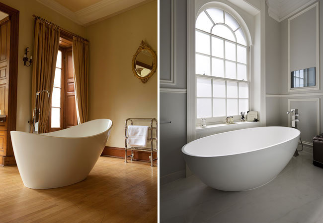 The Elter and Coniston freestanding baths
