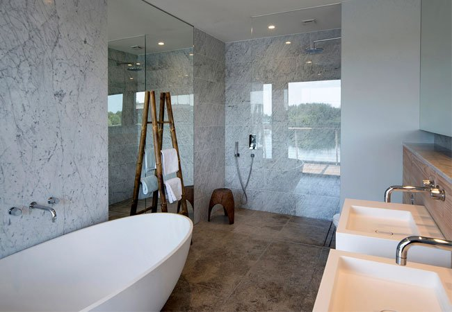 our coniston freestanding bath paired with ocean brassware - Bathroom Inspiration