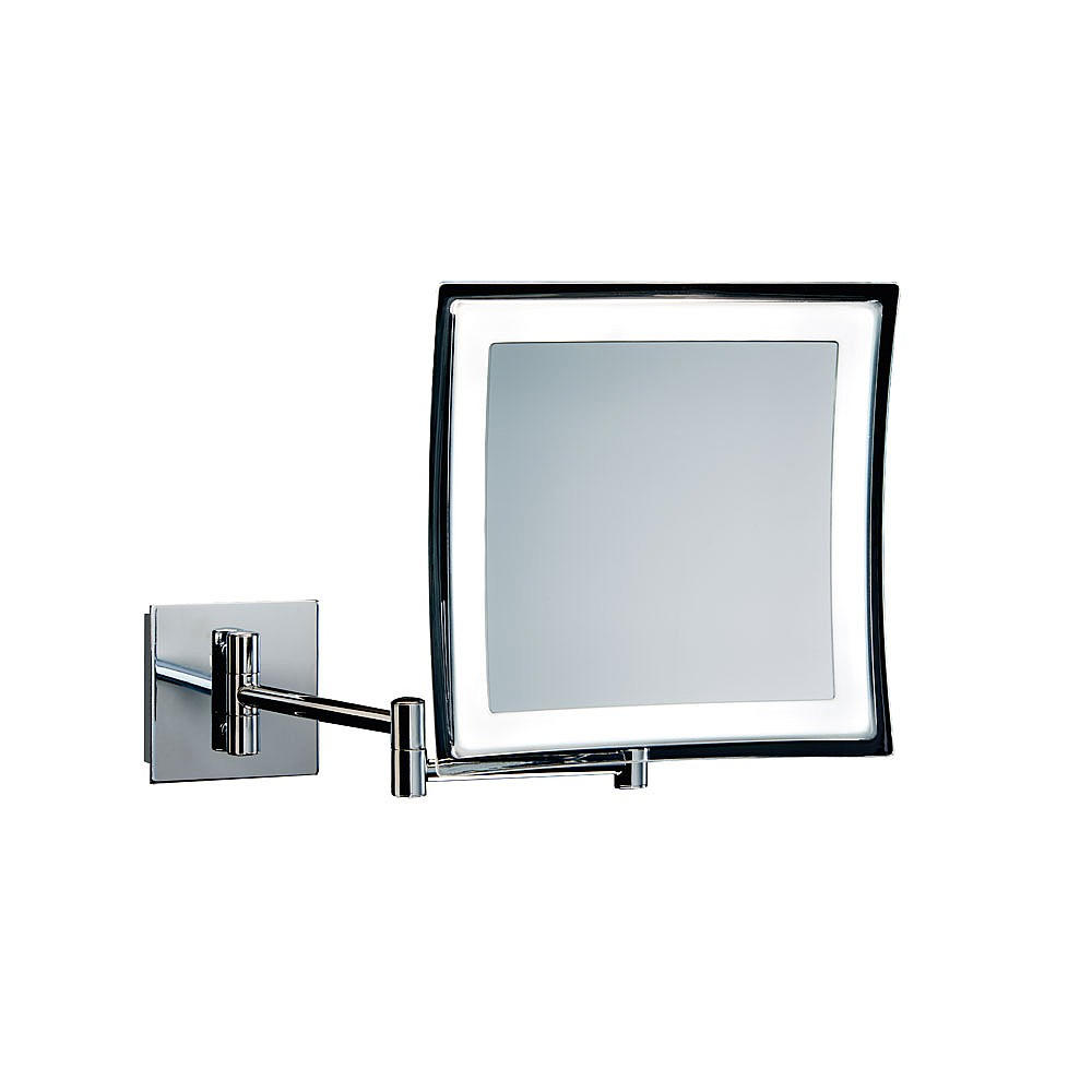 Extendable Mirror Bathroom Decor Walther Wall Mounted Square Extendable Mirror Cosmetic