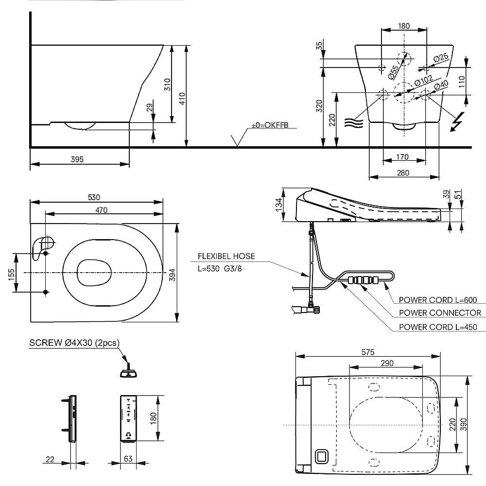 TOTO GL Washlet Shower Toilet 2 0 (Hidden Connection)