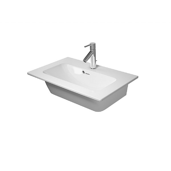 Duravit ME by Starck Compact Furniture Basin 630mm Satin Matt White