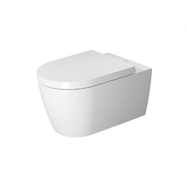 Duravit ME by Starck Rimless Wall-Mounted Pan 570mm with Durafix Satin Matt White