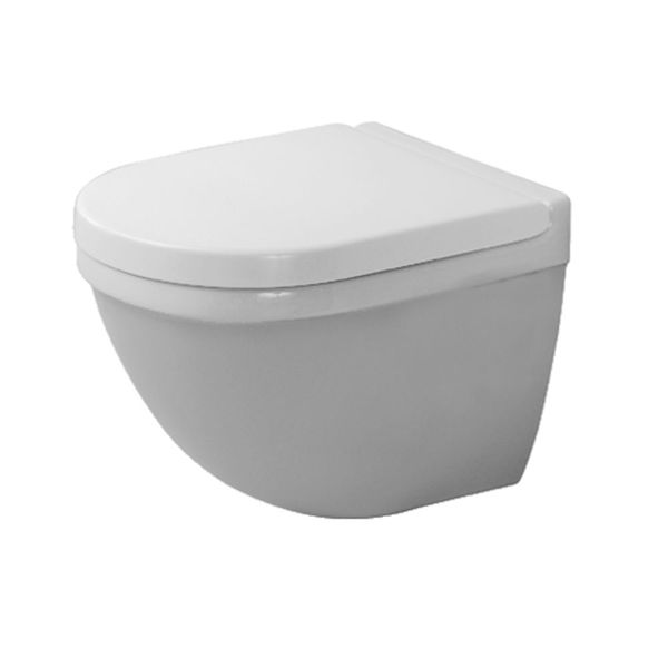 Duravit Starck 3 Compact Wall-Mounted Pan With Durafix