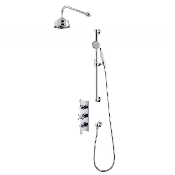 Waterloo Shower Set (Triple Valve, Flexible Kit & Shower Head)