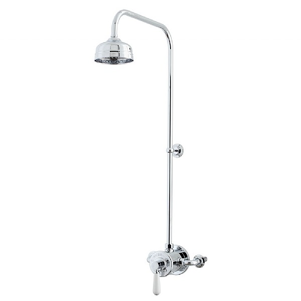 Waterloo Exposed Shower Valve & Shower Head with 90 Degree Riser