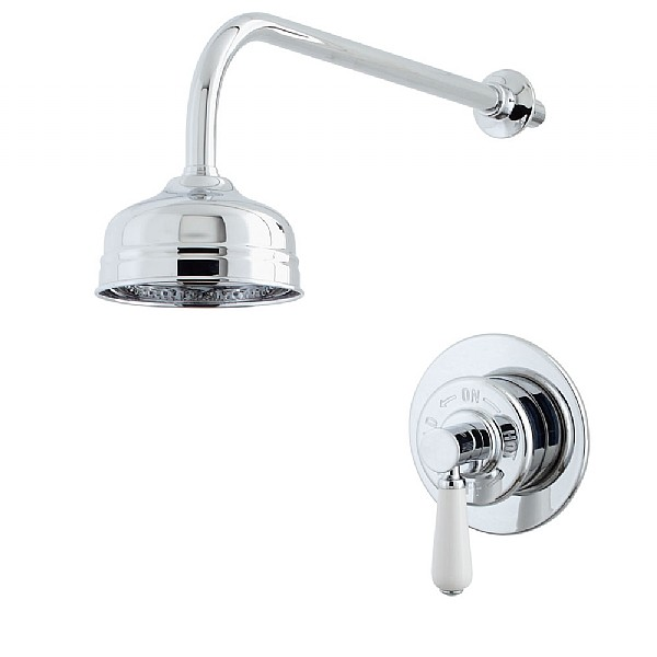 Waterloo Concealed Shower Valve & Shower Head with Arm