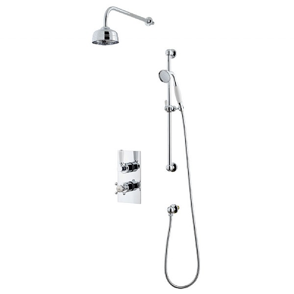 Waterloo Shower Set (Dual Valve & Diverter, Flexible Kit & Head)