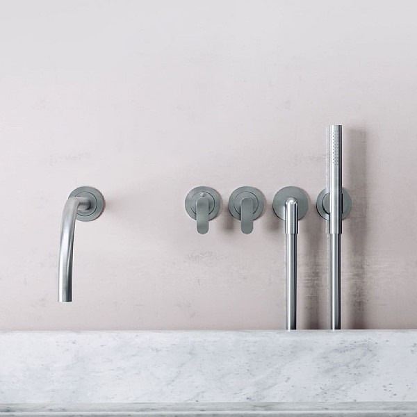 John Pawson Set 24 Thermostatic Complete Bath Set With Pencil Hand Shower