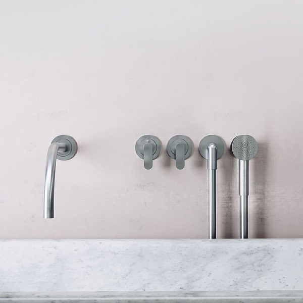 John Pawson Set 24 Thermostatic Complete Bath Set With Round Hand Shower