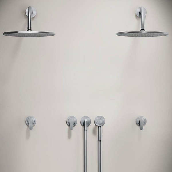 John Pawson Set 31.2 Double Shower Set With Round Hand Shower
