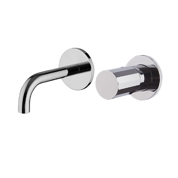 Spillo Tech V Wall-Mounted Single Lever Basin Mixer (120mm Spout) with Click Waste