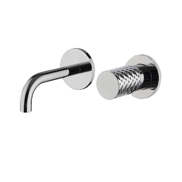 Spillo Tech X Wall-Mounted Single Lever Basin Mixer (120mm Spout) with Click Waste