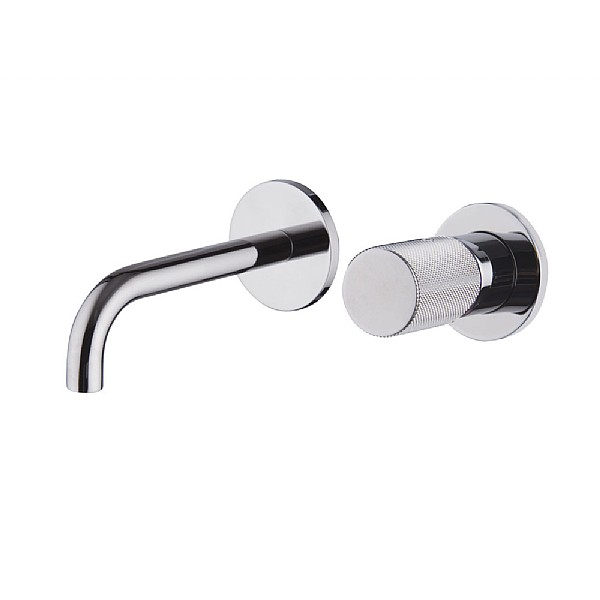 Spillo Tech G Wall-Mounted Single Lever Basin Mixer (151mm Spout) with Click Waste