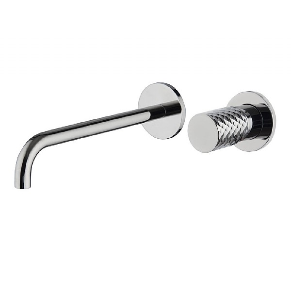 Spillo Tech X Wall-Mounted Single Lever Basin Mixer (250mm Spout) with Click Waste