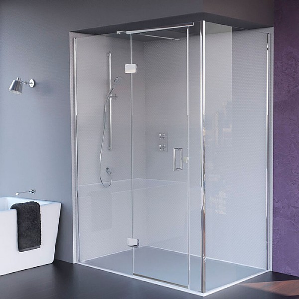Matki Illusion Small Corner Shower Enclosure With Tray