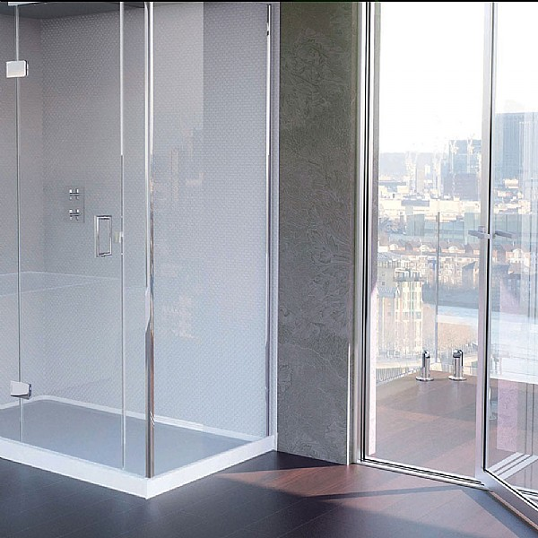Matki Illusion Small Corner Shower Enclosure With Raised Tray