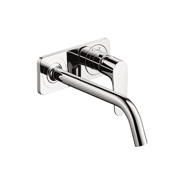 axor citterio m wall mounted basin mixer with back plate basin taps cp hart. Black Bedroom Furniture Sets. Home Design Ideas