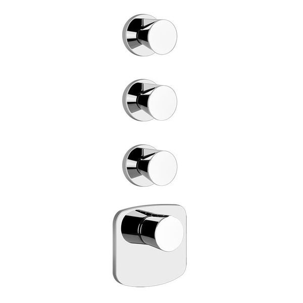 Gessi Cono Shower Valve For 3 Outlets