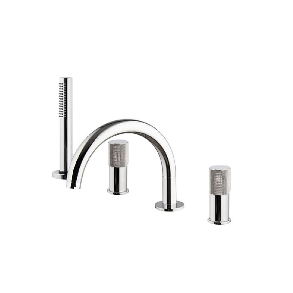 Spillo Tech G Four Hole Bath Mixer with 232mm Spout & Handshower