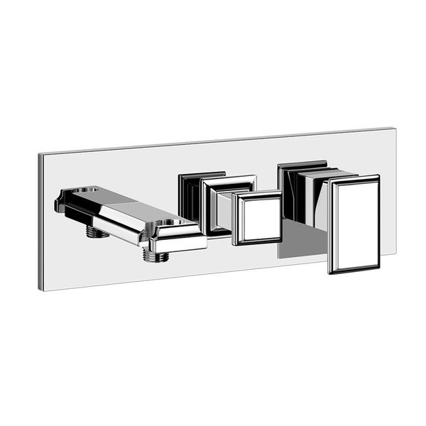 Gessi Eleganza Wall-Mounted Bath Spout With Diverter