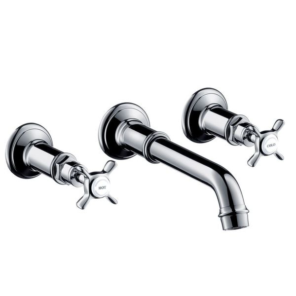 AXOR Montreux Wall-Mounted 3-Piece Basin Mixer