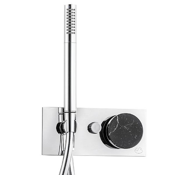 Marmo Manual Shower Valve 2-Way With Handshower Black