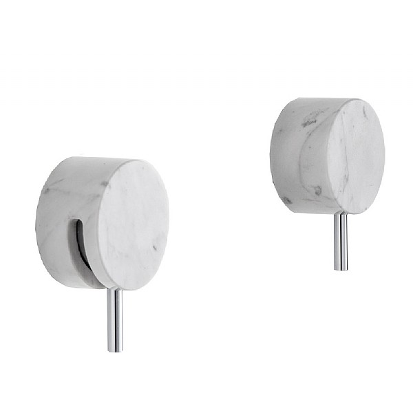 Marmo Manual Shower Valve With Shut Off White