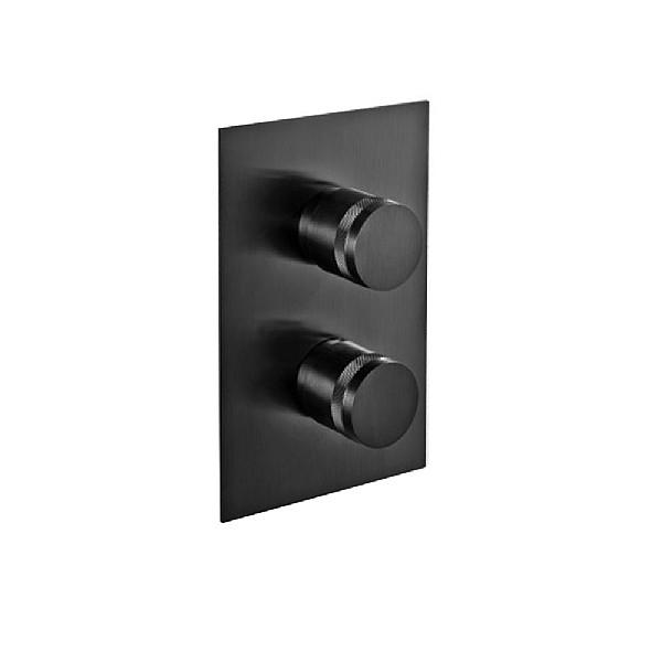 MGS Black Concealed Thermostatic Shower Valve