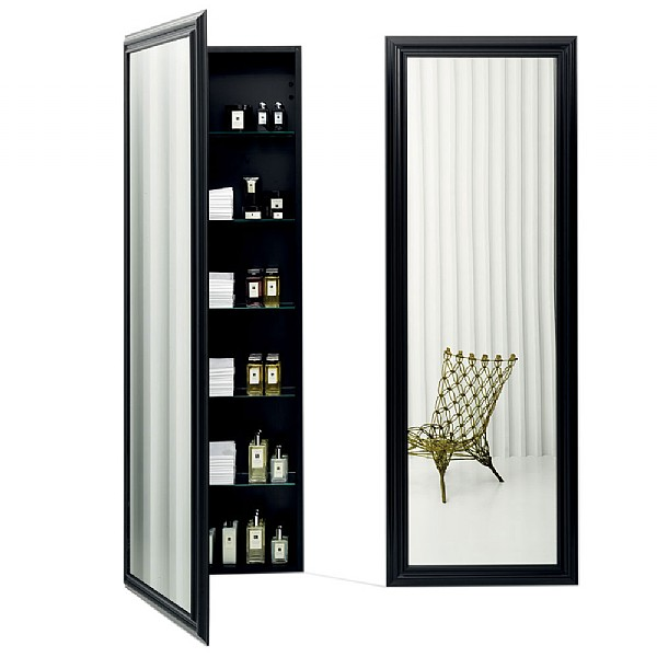 Bisazza Wanders Tall Bathroom Mirror Cabinet