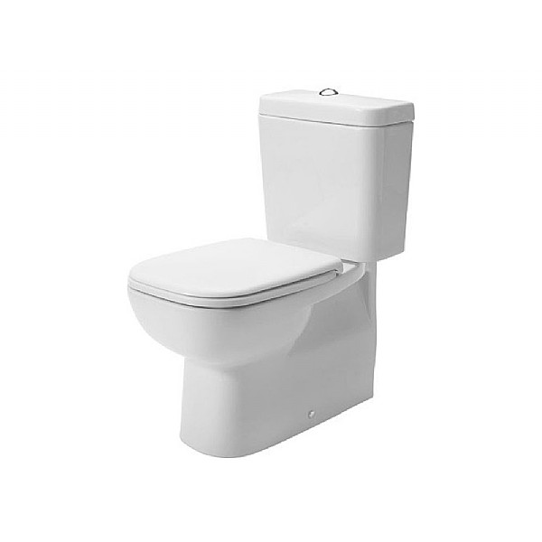 Duravit D-Code Back-To-Wall Close-Coupled Pan