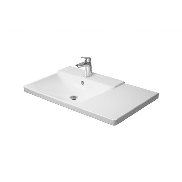 Duravit P3 Comforts Left Hand Asymmetric Furniture Washbasin