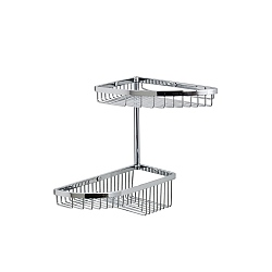 Complementi Double Corner Offset Shower Basket