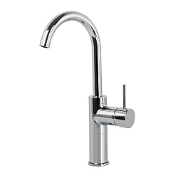 Spillo Tall High Spout Single Lever Basin Mixer with Click Waste