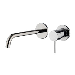 Spillo Wall Mounted Single Lever Basin Mixer (202mm Spout) with Click Waste