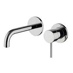Spillo Wall Mounted Single Lever Basin Mixer (152mm Spout) with Click Waste