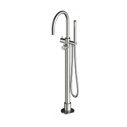 Spillo Steel Floor Standing Bath Shower Mixer