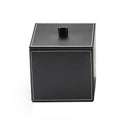 Decor Walther Square Leather Box with Lid