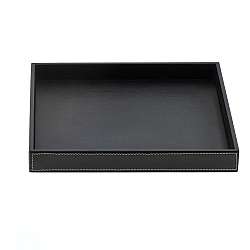 Decor Walther Large Rectangular Leather Tray