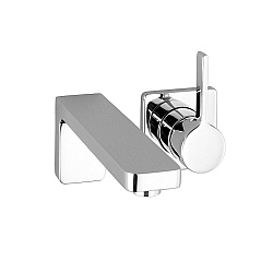 Dornbracht Lulu Wall-Mounted Single Lever Basin Mixer With Individual Rosettes
