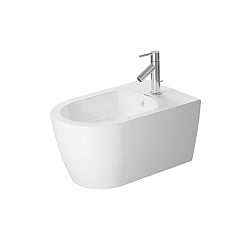Duravit ME by Starck Wall-Mounted Bidet 570mm Satin Matt White