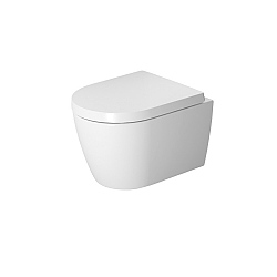 Duravit ME by Starck Rimless Wall-Mounted Pan 480mm Satin Matt White