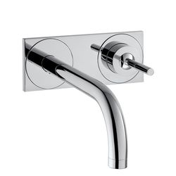 Hansgrohe Axor Uno Wall-Mounted Basin Mixer With Back Plate
