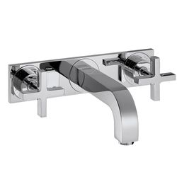 Hansgrohe Axor Citterio Wall-Mounted 3-Piece Cross Head Basin Mixer